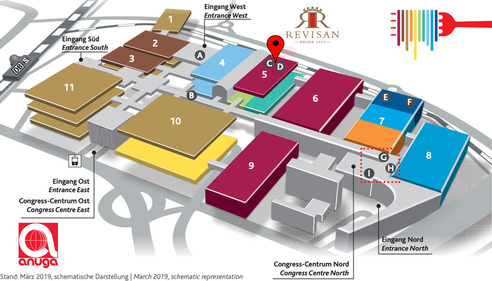 Mapa Stand Anuga 2019 - REVISAN